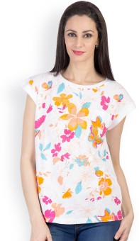 Tops And Tunics Casual Short Sleeve Floral Print Women's Top