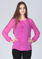 Meee Casual Full Sleeve Solid Women's Top