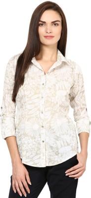 Taurus Casual 3/4 Sleeve Floral Print Womens Top