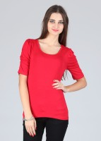 Alibi Casual Short Sleeve Solid Women's Top