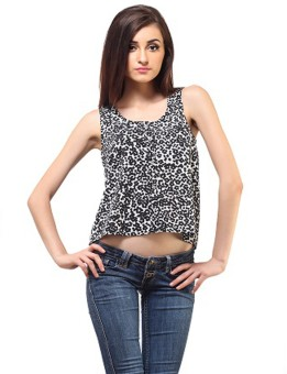 Femme Casual, Casual, Festive, Party Sleeveless Animal Print Women's Top