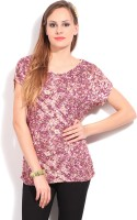 Allen Solly Casual Short Sleeve Floral Print Women's Top