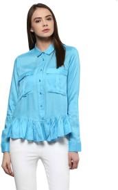 Yepme Casual Full Sleeve Solid Women's Blue Top