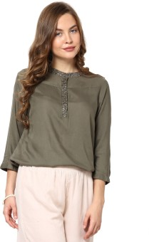Rose Vanessa Casual 3/4 Sleeve Printed Women's Top