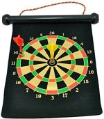 Shopaholic Double Faced 6'' Magnetic Portable Darts Board Girls, Boys Archery Kit