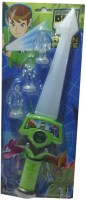 Shop & Shoppee Ben 10 Sword With 3 Action Figures (Green)