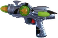 RIANZ Musical Flash GUN SHOCK Vibration Space Gun Cool 3D LED Light With Latest Design Toy Gun For Kids (Grey, Black, Green)