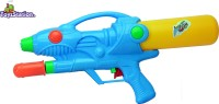 Toyzstation Techno Pressure Water Gun Pichkari With Free Balloons Assorted (Multicolor)