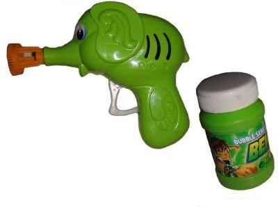 Kritigya Enterprises Green Ben 10 Bubble Gun 840 (Green)