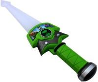 New Pinch Ben-10 Sword With Three Alien Figure (Green)