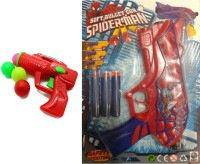 FINNEXE Gun Toy Combo Ping Pong Gun And Soft Bullet Spiderman Gun(pack Of 2) (Multicolor)