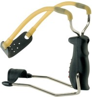 Grand Harvest Powerful Folding Slingshot With Wrist Band (Black)