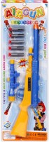New Pinch Dart Gun With Plastic Darts For Kids (Multicolor)