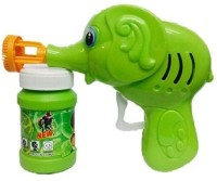 Adiestore Hand Pressing Bubble Making Toy Gun (Color And Design May Vary) (Green)