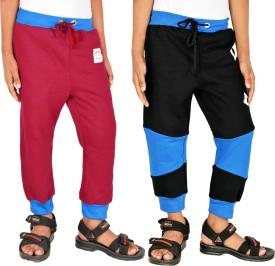 Gkidz Printed Boy's Maroon, Black Track Pants