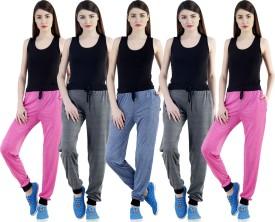 Dee Mannequin Self Design Women's Dark Blue, Grey, Grey, Pink, Pink Track Pants
