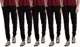 Gaushi Solid Men's Black, Black, Black, Black, Black Track Pants