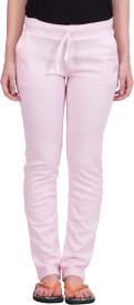 Lesuzaki Solid Women's Pink Track Pants