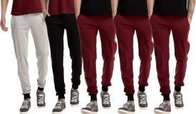 Gaushi Solid Men's Grey, Black, Maroon, Maroon, Maroon Track Pants