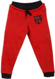 Oye Solid Girl's Red Track Pants