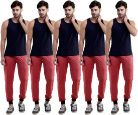 Dee Mannequin Self Design Men's Red, Red, Red, Red, Red Track Pants