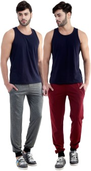 Dee Mannequin Self Design Men's Grey, Maroon Track Pants