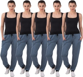 Meebaw Self Design Women's Light Blue, Light Blue, Light Blue, Light Blue, Light Blue Track Pants