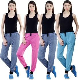 Dee Mannequin Self Design Women's Dark Blue, Dark Blue, Pink, Blue Track Pants