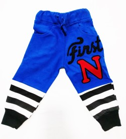 Tomato Solid Girl's Blue Track Pants