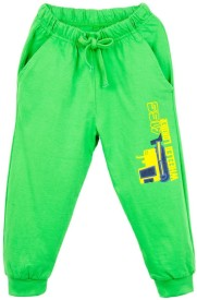 Oye Printed Boy's Green Track Pants