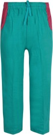 Jazzup Solid Girl's Green Track Pants