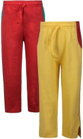 Jazzup Solid Girl's Multicolor Track Pants