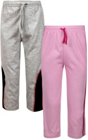 Jazzup Solid Boy's Pink, Grey Track Pants