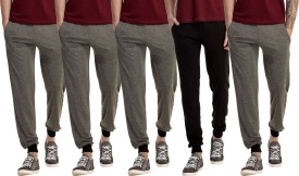 Gaushi Solid Men's Grey, Grey, Grey, Grey, Black Track Pants