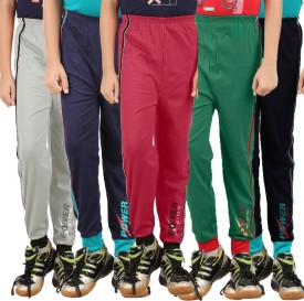 Meril Printed Girl's Black, Maroon, Grey, Dark Blue, Green Track Pants