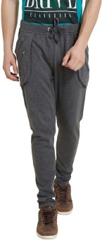 Elaborado Solid Men's Grey, Black Track Pants