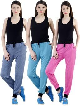 Dee Mannequin Self Design Women's Dark Blue, Pink, Blue Track Pants