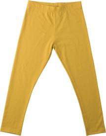 Lulu Solid Girl's Yellow Track Pants
