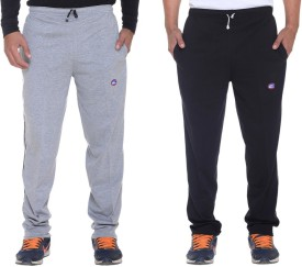 Vimal Solid Men's Grey, Black Track Pants