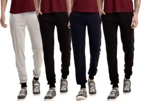 Gaushi Solid Men's Grey, Black, Black, Dark Blue Track Pants