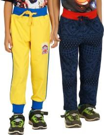Shaun Solid Boy's Yellow, Dark Blue Track Pants