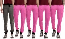 Gaushi Solid Men's Grey, Pink, Pink, Pink, Pink Track Pants