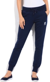 Reebok Solid Women's Dark Blue Track Pants