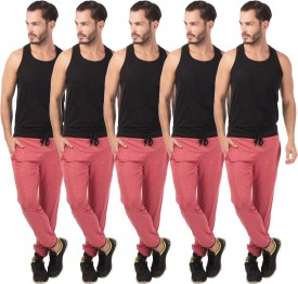 Meebaw Self Design Men's Red, Red, Red, Red, Red Track Pants