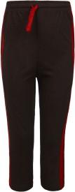 Jazzup Kidz Sport Wear Solid Boy's Brown, Red Track Pants