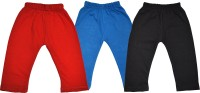 Shaun Solid Baby Girl's Red, Light Blue, Black Track Pants