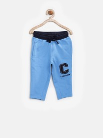 YK Solid Boy's Blue Track Pants