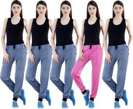 Dee Mannequin Self Design Women's Dark Blue, Dark Blue, Dark Blue, Dark Blue, Pink Track Pants