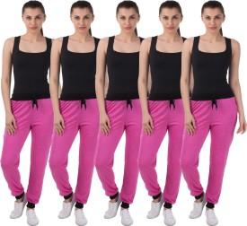 Meebaw Self Design Women's Pink, Pink, Pink, Pink, Pink Track Pants