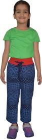 Shaun Printed Girl's Dark Blue Track Pants